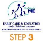 Quality for ME Early Care & Education Rating - Step 3 Logo