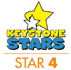 Pennsylvania Keystone STARS Rating - Star 4 Logo