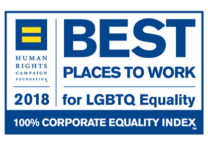 Human Rights Campaign Best Places to Work for LGBTQ Equality 2018 Award Logo
