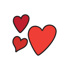 Caring Matters Hearts Icon