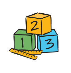 Math Counts Numbers Icon