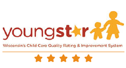 Wisconsin's YoungStar Child Care Quality Rating & Improvement System 5 Star Logo
