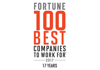 Fortune 100 Best Companies to Work for 2017 Award Logo